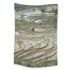 Rice Fields Terraced Terrace Large Tapestry