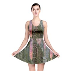 Flat Iron Building Toronto Ontario Reversible Skater Dress