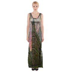 Flat Iron Building Toronto Ontario Maxi Thigh Split Dress