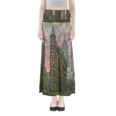 Flat Iron Building Toronto Ontario Full Length Maxi Skirt