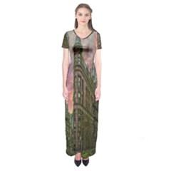 Flat Iron Building Toronto Ontario Short Sleeve Maxi Dress