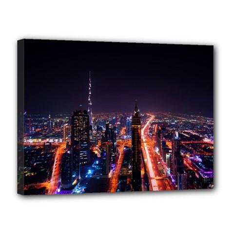 Dubai Cityscape Emirates Travel Canvas 16  X 12  by Nexatart