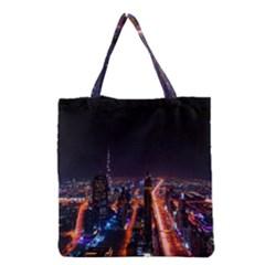 Dubai Cityscape Emirates Travel Grocery Tote Bag