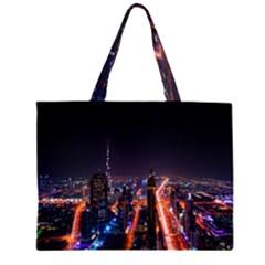 Dubai Cityscape Emirates Travel Zipper Large Tote Bag