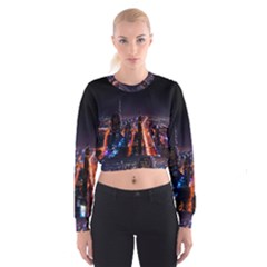Dubai Cityscape Emirates Travel Cropped Sweatshirt