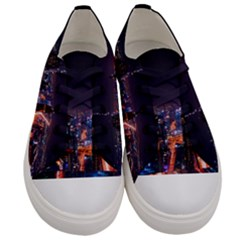 Dubai Cityscape Emirates Travel Women s Low Top Canvas Sneakers