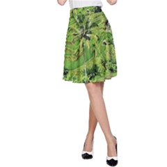 Greenery Paddy Fields Rice Crops A-Line Skirt
