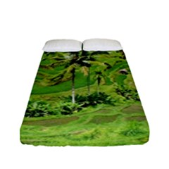 Greenery Paddy Fields Rice Crops Fitted Sheet (full/ Double Size)