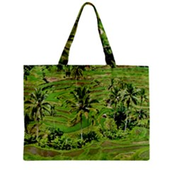 Greenery Paddy Fields Rice Crops Zipper Mini Tote Bag by Nexatart