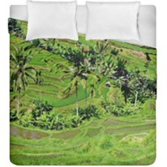 Greenery Paddy Fields Rice Crops Duvet Cover Double Side (King Size)