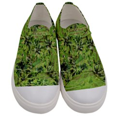 Greenery Paddy Fields Rice Crops Men s Low Top Canvas Sneakers