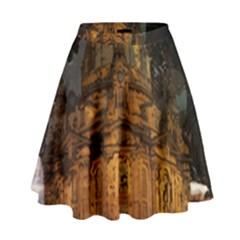 Dresden Frauenkirche Church Saxony High Waist Skirt