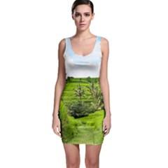 Bali Rice Terraces Landscape Rice Bodycon Dress