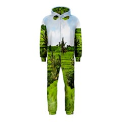 Bali Rice Terraces Landscape Rice Hooded Jumpsuit (kids)