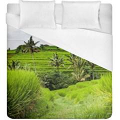 Bali Rice Terraces Landscape Rice Duvet Cover (king Size)