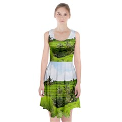 Bali Rice Terraces Landscape Rice Racerback Midi Dress