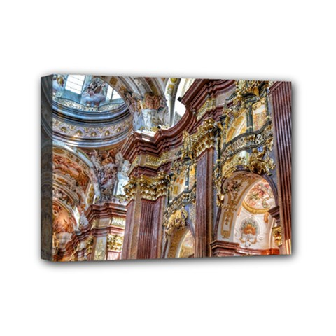 Baroque Church Collegiate Church Mini Canvas 7  X 5