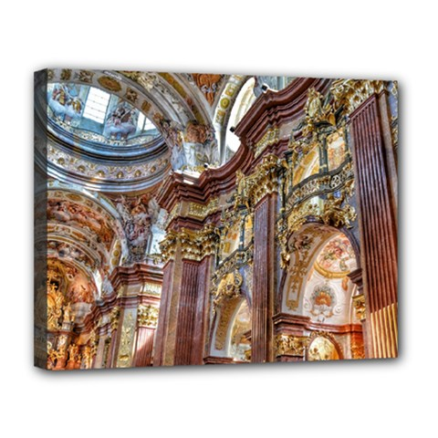 Baroque Church Collegiate Church Canvas 14  X 11  by Nexatart