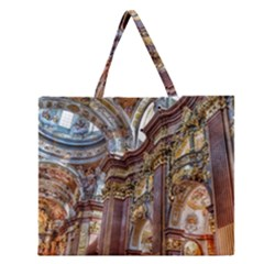 Baroque Church Collegiate Church Zipper Large Tote Bag