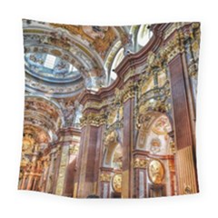 Baroque Church Collegiate Church Square Tapestry (large)