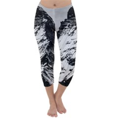 Matterhorn Switzerland Mountain Capri Winter Leggings