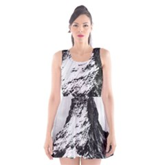 Matterhorn Switzerland Mountain Scoop Neck Skater Dress