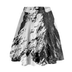 Matterhorn Switzerland Mountain High Waist Skirt