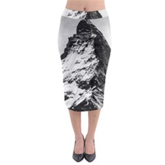 Matterhorn Switzerland Mountain Midi Pencil Skirt