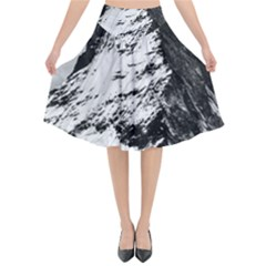 Matterhorn Switzerland Mountain Flared Midi Skirt