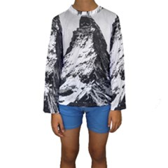 Matterhorn Switzerland Mountain Kids  Long Sleeve Swimwear by Nexatart