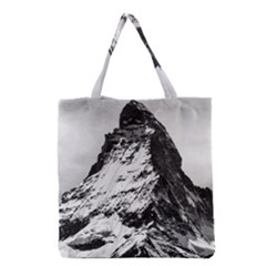 Matterhorn Switzerland Mountain Grocery Tote Bag by Nexatart
