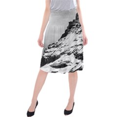Matterhorn Switzerland Mountain Midi Beach Skirt