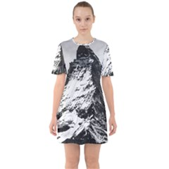 Matterhorn Switzerland Mountain Sixties Short Sleeve Mini Dress