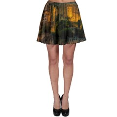 Mont St Michel Sunset Island Church Skater Skirt