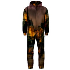 Mont St Michel Sunset Island Church Hooded Jumpsuit (men)