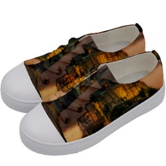 Mont St Michel Sunset Island Church Kids  Low Top Canvas Sneakers by Nexatart