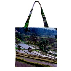 Rice Terrace Rice Fields Grocery Tote Bag