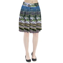 Rice Terrace Rice Fields Pleated Skirt