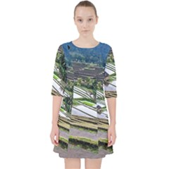 Rice Terrace Rice Fields Pocket Dress