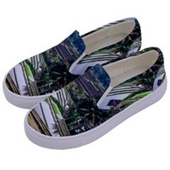 Rice Terrace Rice Fields Kids  Canvas Slip Ons by Nexatart