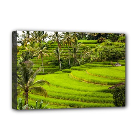 Rice Terrace Terraces Deluxe Canvas 18  X 12
