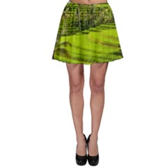 Rice Terrace Terraces Skater Skirt