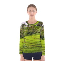 Rice Terrace Terraces Women s Long Sleeve Tee