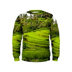 Rice Terrace Terraces Kids  Sweatshirt