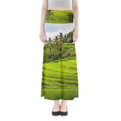 Rice Terrace Terraces Full Length Maxi Skirt