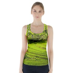 Rice Terrace Terraces Racer Back Sports Top