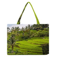 Rice Terrace Terraces Zipper Medium Tote Bag