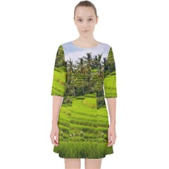 Rice Terrace Terraces Pocket Dress