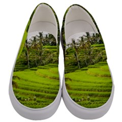 Rice Terrace Terraces Men s Canvas Slip Ons