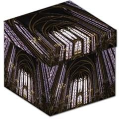 Sainte Chapelle Paris Stained Glass Storage Stool 12   by Nexatart